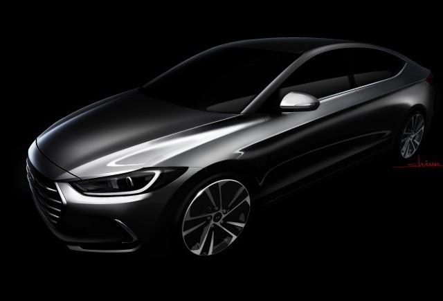Hyundai dezvăluie prima schiță a noului model Elantra
