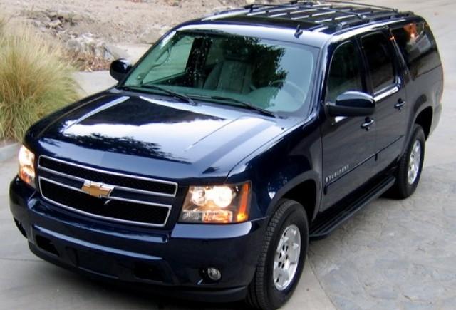 Limuzina lui Bush, escortata de cele mai mari SUV-uri din lume