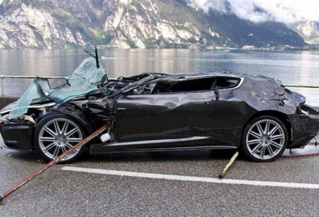 $350,000 pentru un Aston Martin DBS accidentat