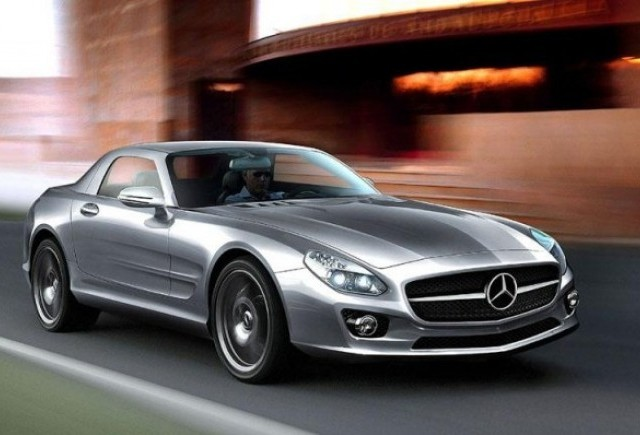 Mercedes SLC Gullwing - Speculatii in toi