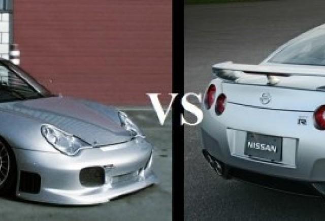 Porsche GT-2 si Nissan GT-R - O disputa aprinsa!