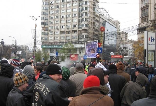Centrul, blocat de marsul contra taxei auto