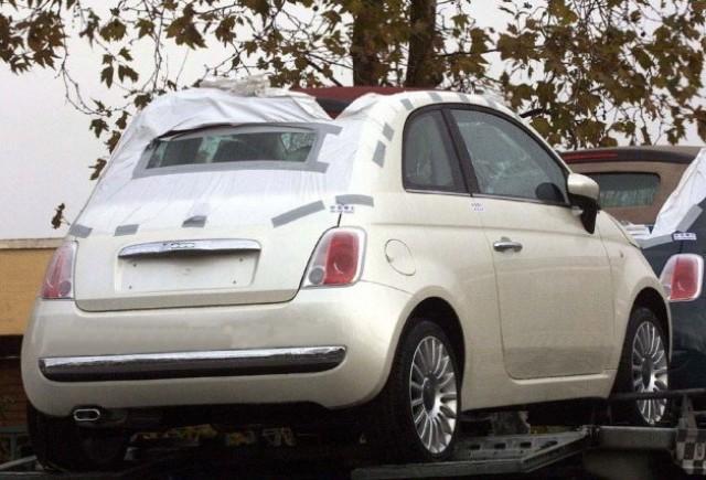 Noi imagini spion cu Fiat 500 Cabrio!