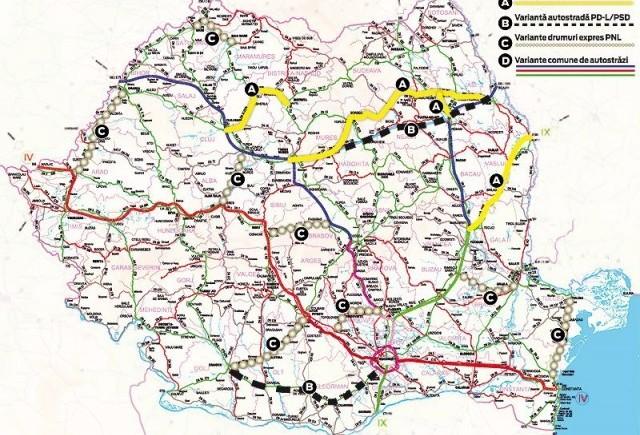 Harta autostrazilor: ce a fost si ce va fi