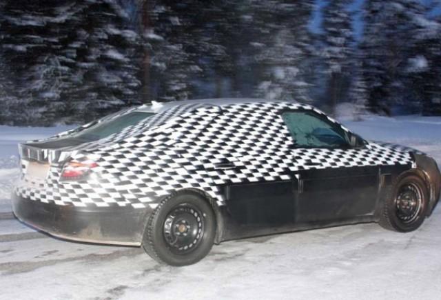Prototipul Saab 9-5 la teste de iarna!