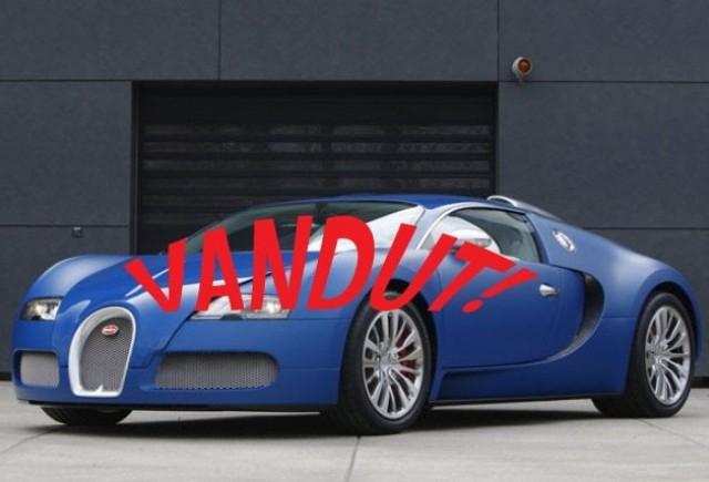 Bugatti Veyron Bleu Centenaire, vandut!