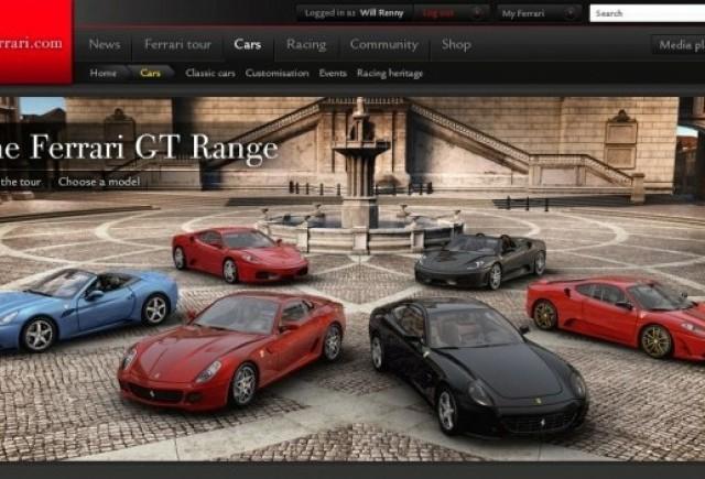 Noul site oficial al Ferrari va fi lansat in timpul cursei de Formula 1 de la Melbourne!