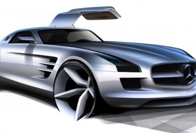 Schite si imagini de interior cu Mercedes SLS 63 AMG