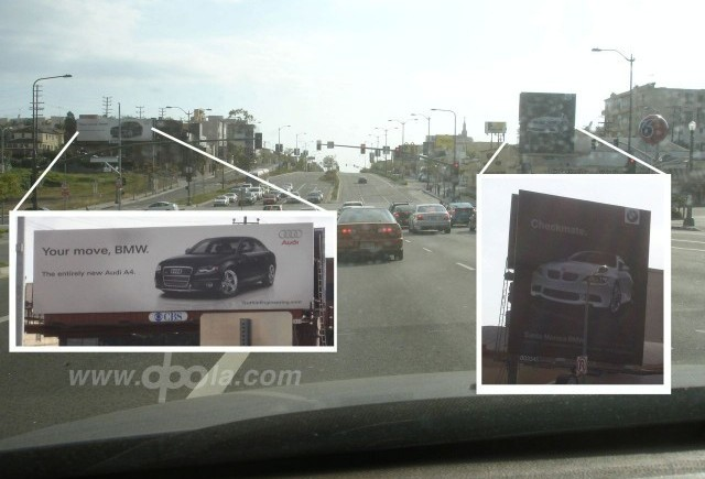 Vrajba intre panourile publicitare ale BMW si Audi