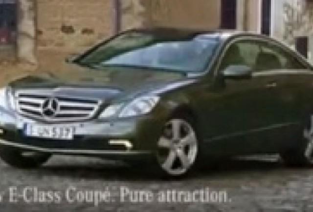 Noua reclama la Mercedes E-Class Coupe