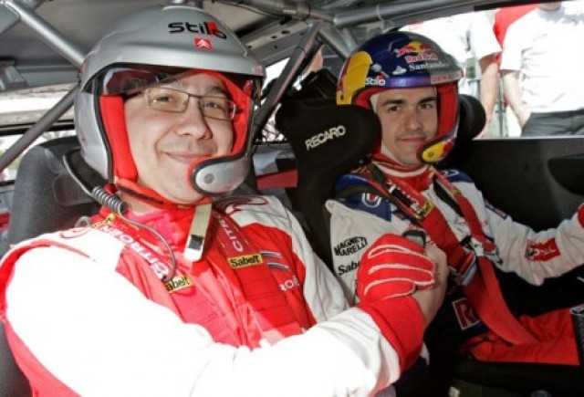 Victor Ponta, copilot pe Citroen C4 WRC HYbrid4