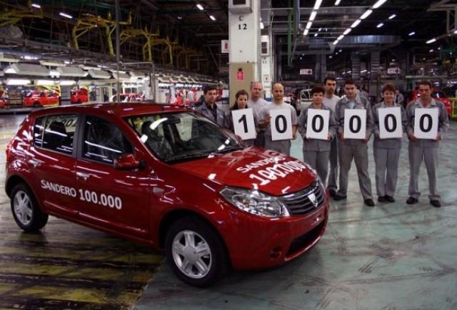 Dacia Sandero a ajuns la 100.000 de unitati