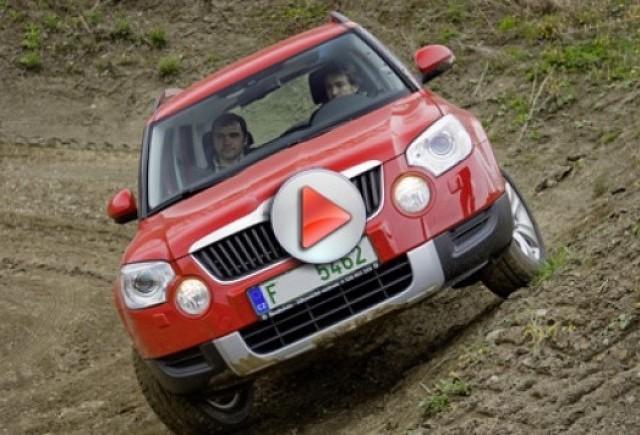 Video: Skoda Yeti SUV filmat in Norvegia