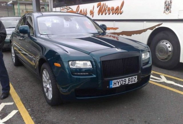 Rolls-Royce Ghost, surprins nedeghizat