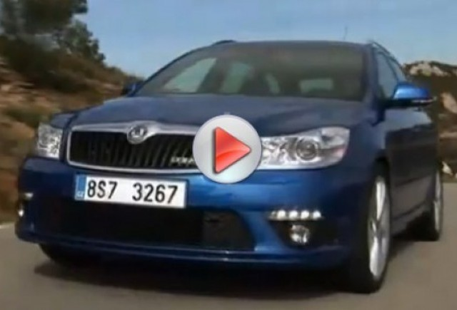 Video cu Skoda Octavia RS facelift