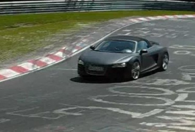 VIDEO: Audi R8 Spyder, spionat la Nurburgring