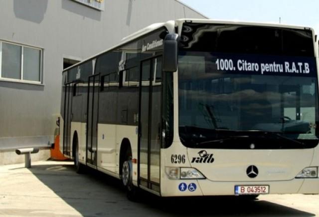Mercedes a livrat al 1000-lea autobuz in Bucuresti