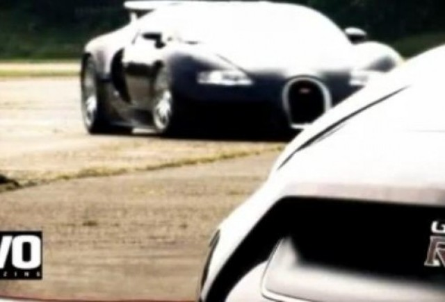 VIDEO: Bugatti Veyron vs Nissan GT-R