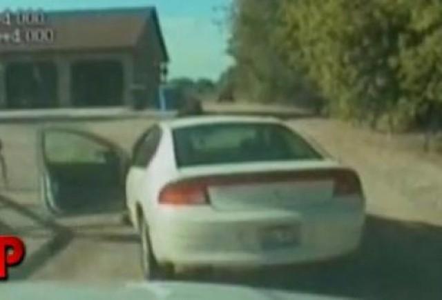 VIDEO: Politia urmareste un sofer de 7 ani