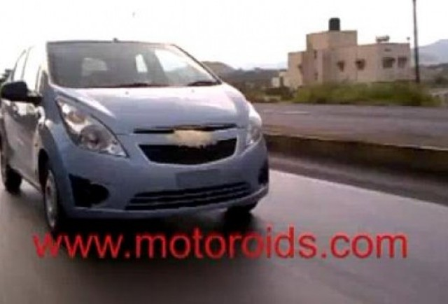 VIDEO: Chevrolet Beat, spionat in India