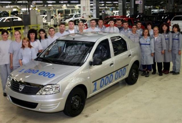 Dacia a construit 1.000.000 de vehicule din gama Logan