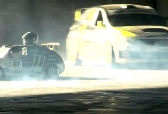 VIDEO: Ken Block si Rob Dyrdek, drifturi la mare arta