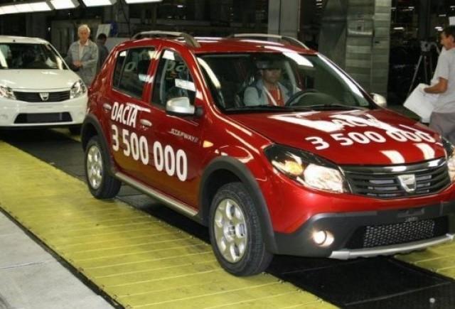 Dacia a produs, miercuri, automobilul cu numarul 3.500.000