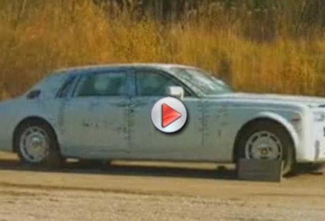 VIDEO: Test balistic pentru Rolls Royce Phantom