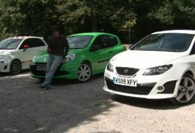 VIDEO: Seat Ibiza Cupra vs Renault Clio RS vs Fiat 500 Abarth