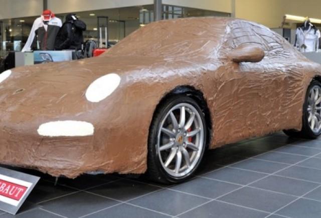 Porsche 911 Carrera, imbracat in ciocolata