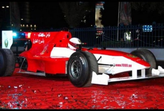 Politia din Abu Dhabi are in dotare o masina de Formula 1