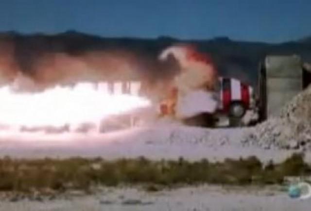 VIDEO: Impact intre o racheta si o masina