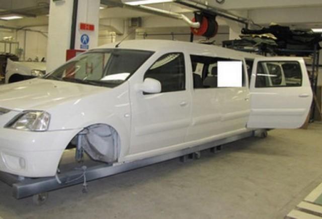 Dacia Logan transformata intr-o limuzina