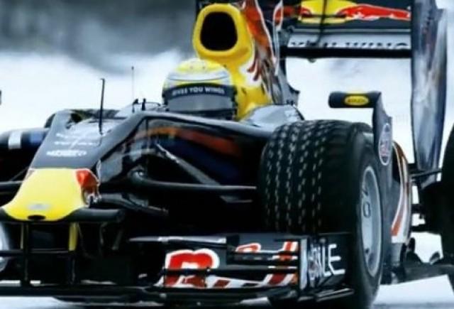 Demonstratie de Formula 1 pe gheata