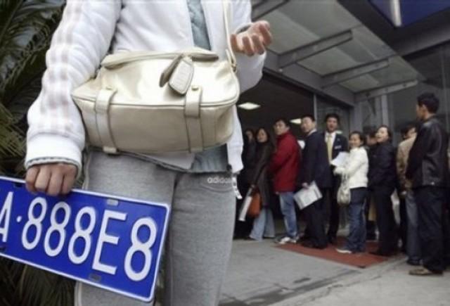 O placuta de inmatriculare in Shanghai costa mai mult decat o masina