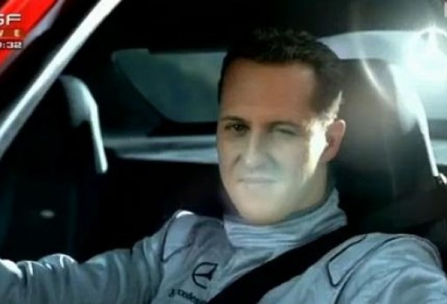 VIDEO: Michael Schumacher, pilot in spotul la Mercedes SLS AMG