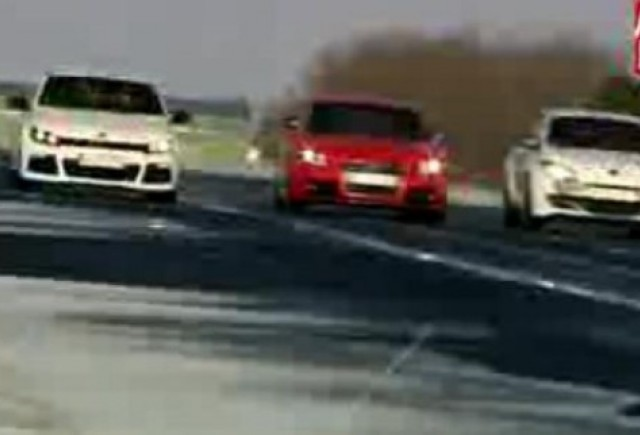 VIDEO: VW Scirocco R vs. Renault Megane RS vs. Audi TTS