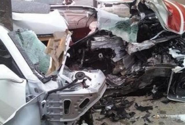 Camaro SS rupt in doua; soferul scapa teafar