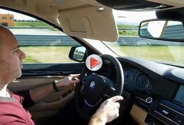 VIDEO: BMW 535i pe circuit