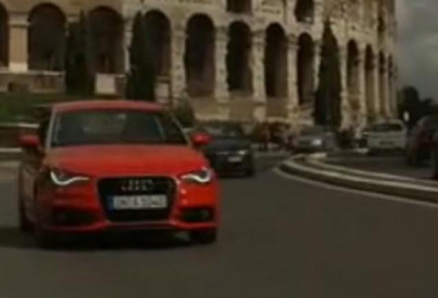 VIDEO: Noul Audi A1 debuteaza pe strazile Romei