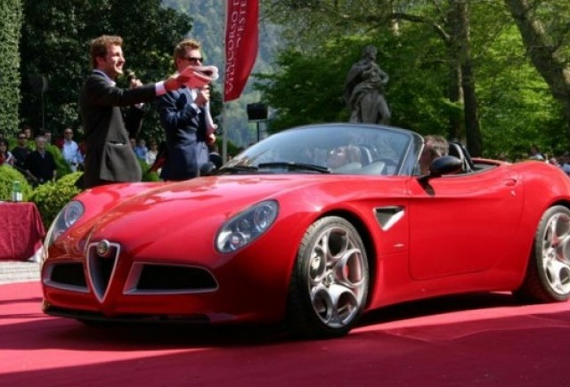 Alfa 8C Spider vine in Romania