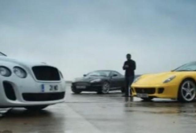 VIDEO: Bentley Continental Supersports vs. Ferrari 599 HGTE vs. Aston Martin DBS