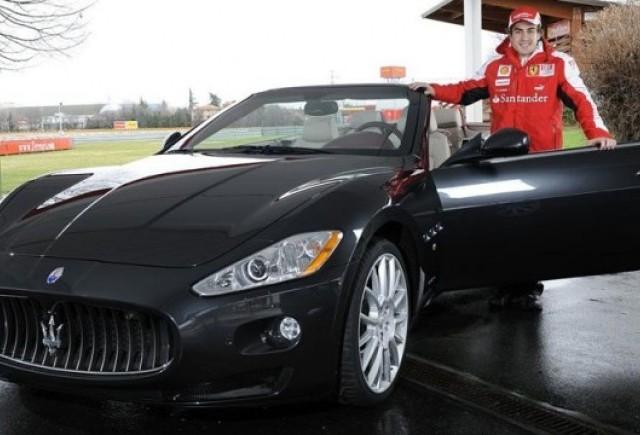 Fernando Alonso a primit un Maseratio GranCabrio