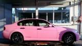 Un BMW Seria 3, roz, din Romania!28274