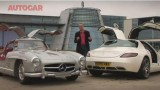 VIDEO: Mercedes SLS AMG vs 300SL Gullwing27907