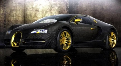 Bugatti Veyron, tunat in aur si fibra de carbon27773