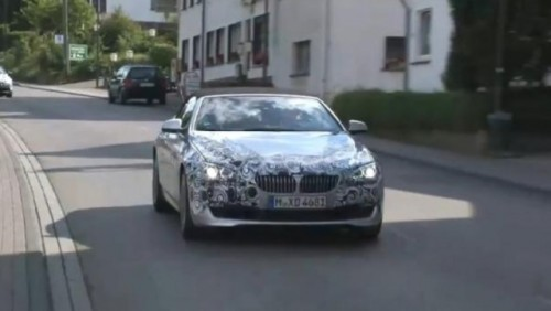 VIDEO: Noul BMW Seria 6 cabrio spionat in Germania27410