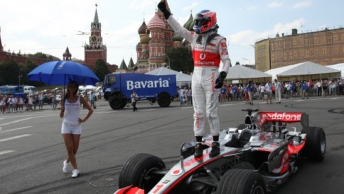 Jenson Button la Bavaria Moscow City Racing27368