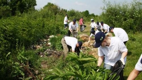 Dacia a organizat o actiune de ecologizare pe Raul Targului25936