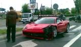 Primul accident cu Ferrari 458 Italia25293